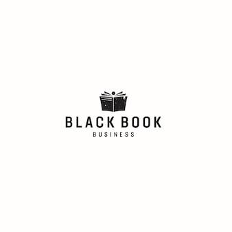 Logo di affari del libro nero