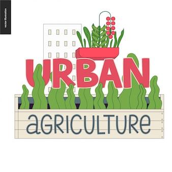 Logo di agricoltura e giardinaggio urbano