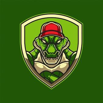 Logo di alligatore di baseball