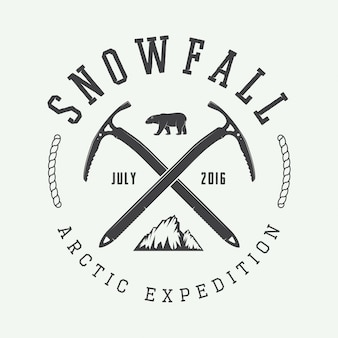 Logo di alpinismo artico