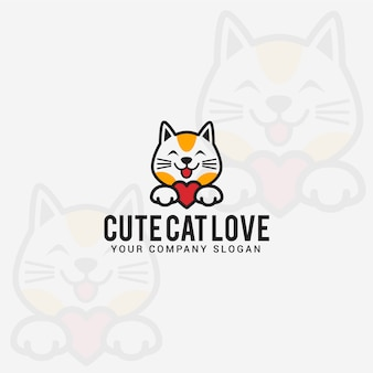 Logo di amore gatto carino