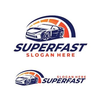 Logo di auto da corsa