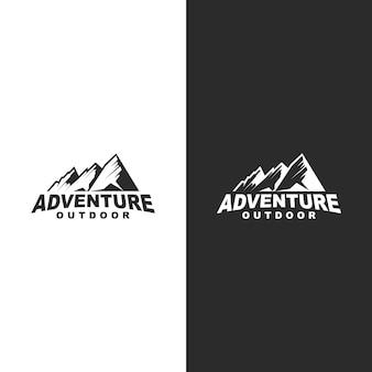 Logo di avventura in montagna