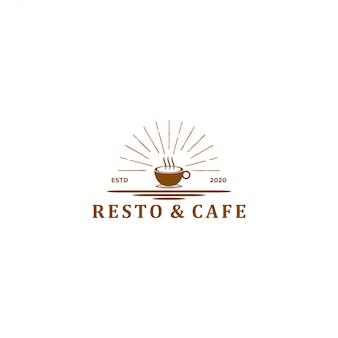Logo di bevande alimentari - ristorante in stile vintage e bar-caffetteria