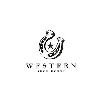 Logo di cavallo di soia westrern