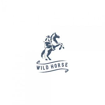 Logo di cavallo selvaggio