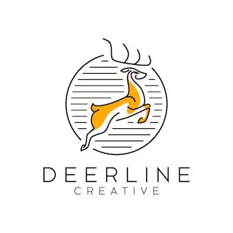 Logo di cervo di contorno
