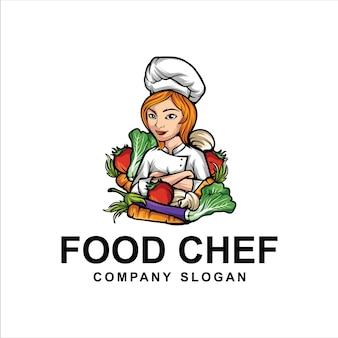 Logo di chef di cibo