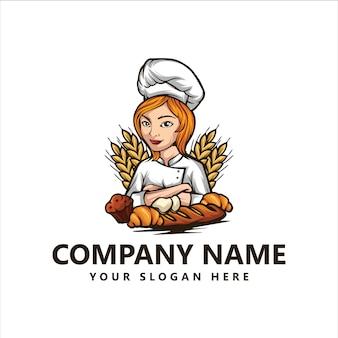 Logo di chef di panetteria