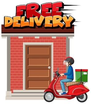 Logo di consegna veloce e gratuito