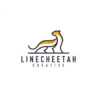Logo di contorno di ghepardo