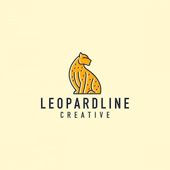 Logo di contorno di leopardo