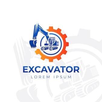 Logo di costruzione dell'escavatore