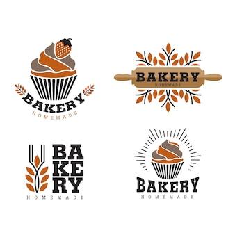 Logo di cupcake e prodotti da forno