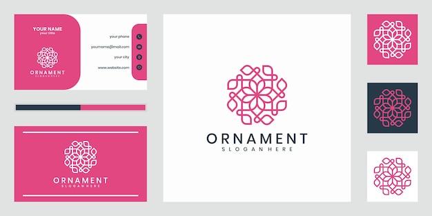 Logo di design lussuoso ornamento che ispira. design del logo e biglietto da visita