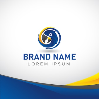 Logo di energia degli uccelli di arara