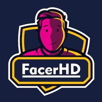 Logo di esportazione gioco mascotte