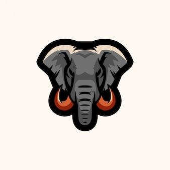 Logo di esports di elefante