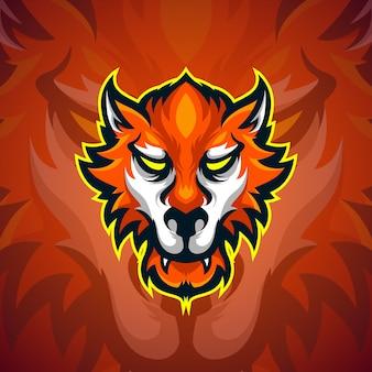 Logo di esports per la testa di lupo