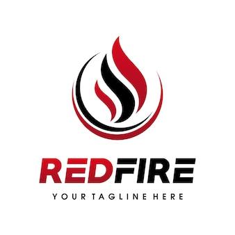 Logo di fiamme di fuoco, design del logo del gas