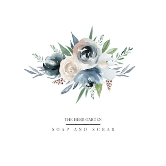 Logo di fiori di campagna
