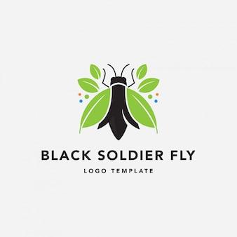 Logo di fly farm soldato nero