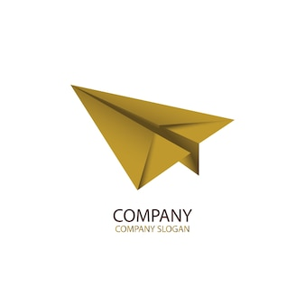 Logo di fly fly origami icon