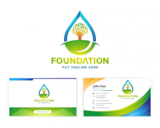 Logo di fondazione verde