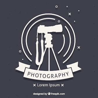 Logo di fotografia con vista laterale