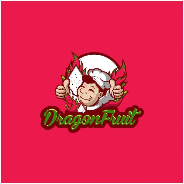 Logo di frutta del drago