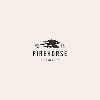 Logo di fuoco di cavallo