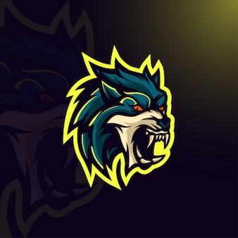 Logo di gioco del lupo