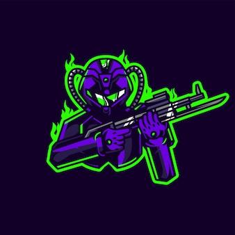 Logo di gioco del soldato esport