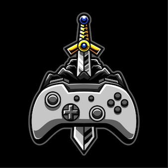 Logo di gioco di avventura premium