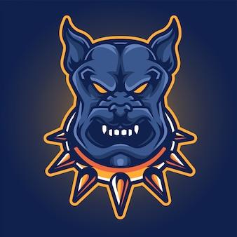 Logo di gioco dog esport