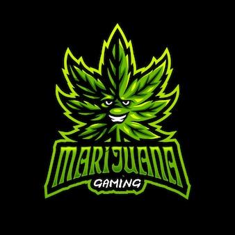 Logo di gioco esport di marijuana mascotte