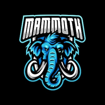Logo di gioco esport logo mascotte mammut