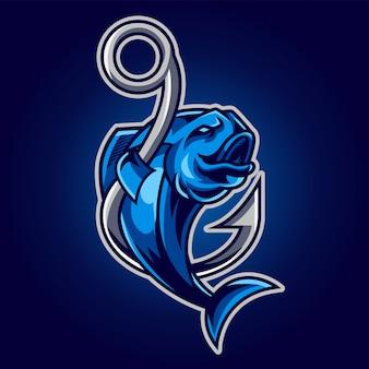 Logo di gioco fish esport