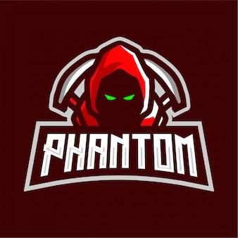 Logo di gioco mascotte fantasma
