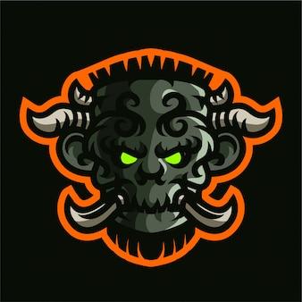 Logo di gioco mascotte re gigante