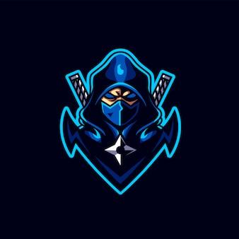 Logo di gioco ninja esport