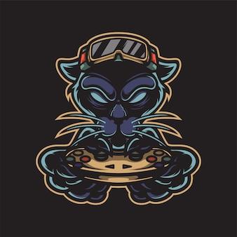 Logo di gioco pantera