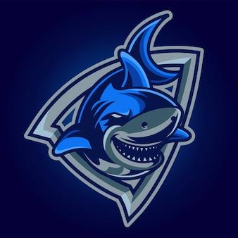 Logo di gioco shark esport