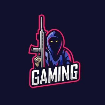Logo di gioco uomo killer