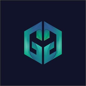 Logo di gradiente gm alfabeto creativo