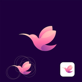 Logo di humming bird