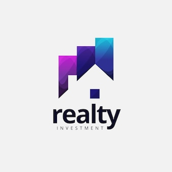 Logo di investimento realty house
