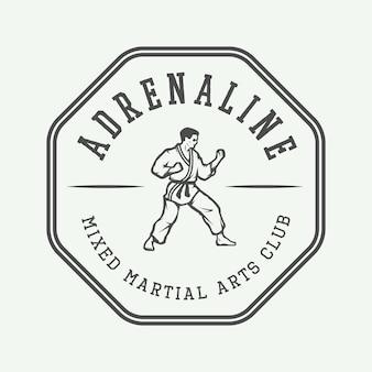 Logo di karate o arti marziali