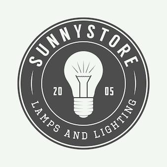 Logo di lampada e illuminazione