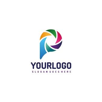 Logo di lettera colorata p lettera